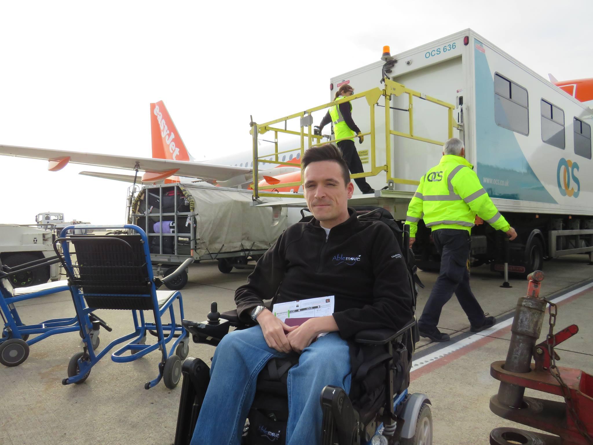 Josh Wintersgill before embarkation